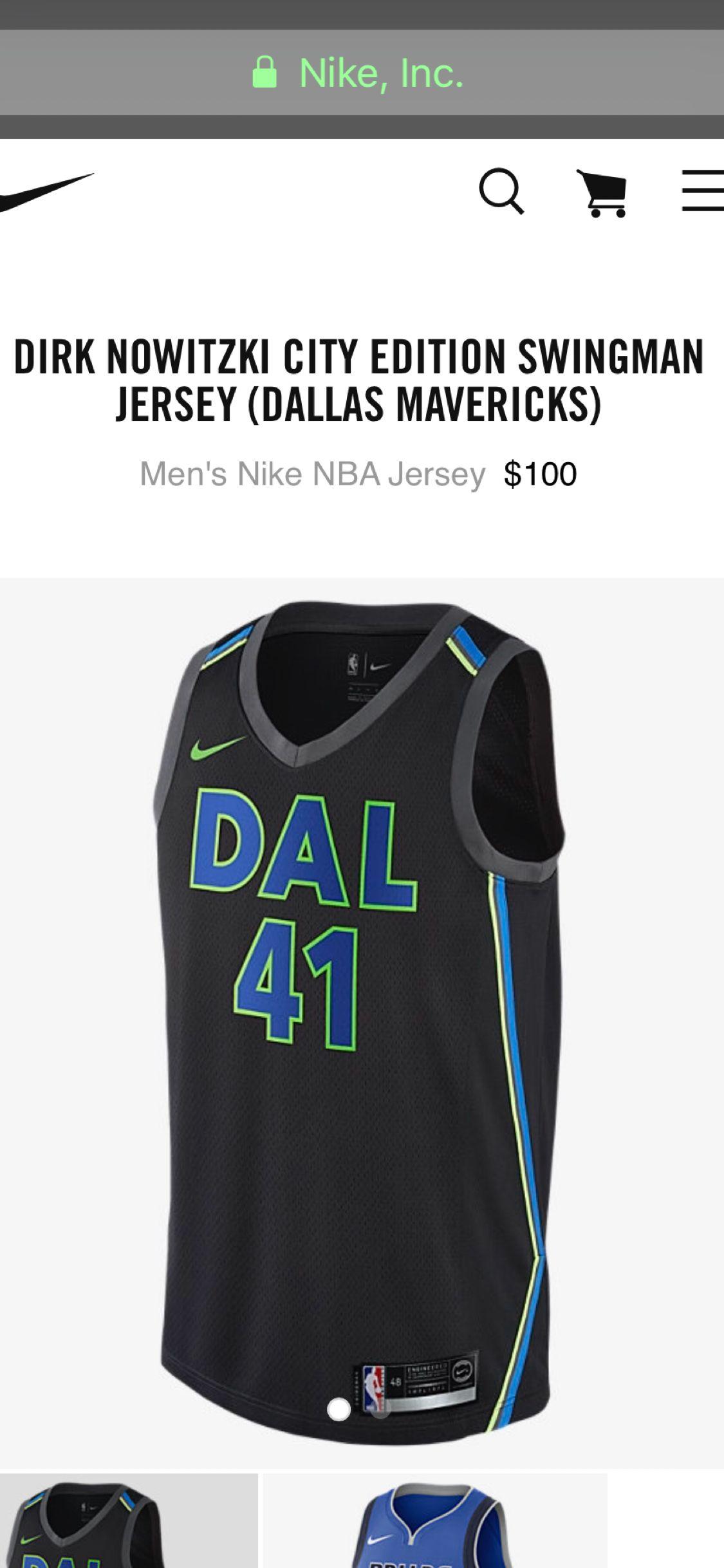 new product e8d4b c6963 Dallas Swingman jersey city edition - Dirk Nowitzki ...