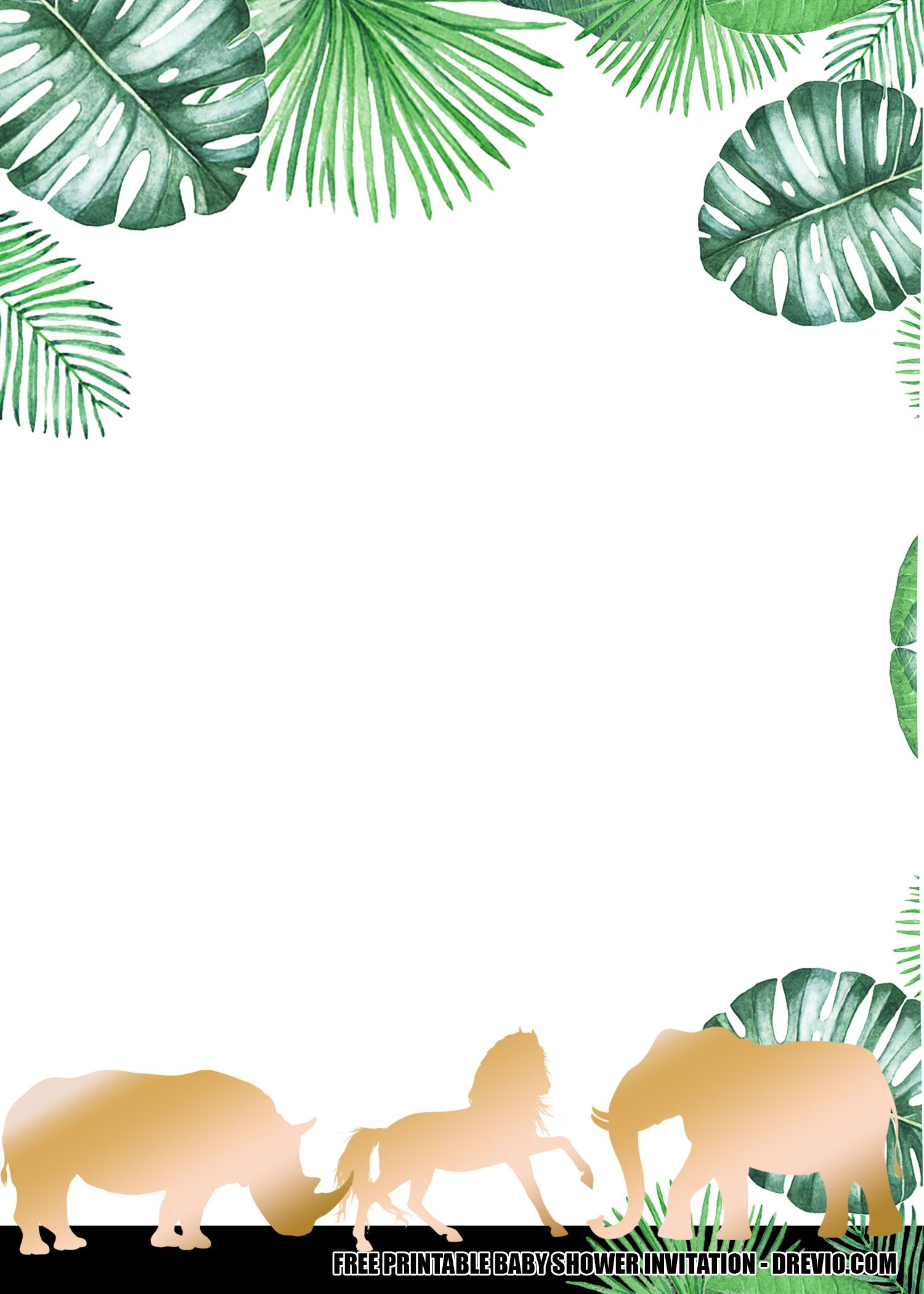 11 free jungle gold baby shower