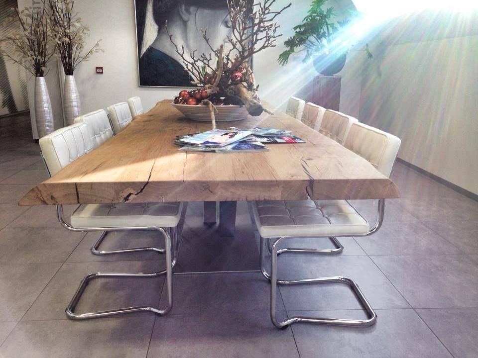Tafel Van Boomstam : Boomstam tafel eiken google zoeken interieur