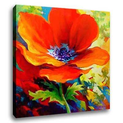 Easy Canvas christmas Painting Ideas | Flower Oil Painting ...