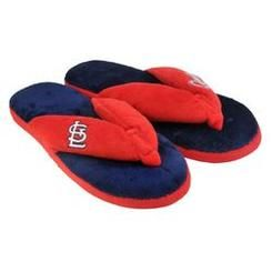 Forever Collectibles St. Louis Cardinals Slippers - Womens Thong Flip Flop (12 pc case)