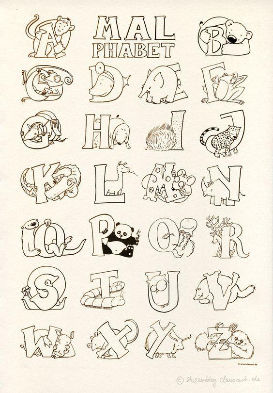Das Malphabet Malvorlagen Gratis Alphabet Malvorlagen Alphabet A