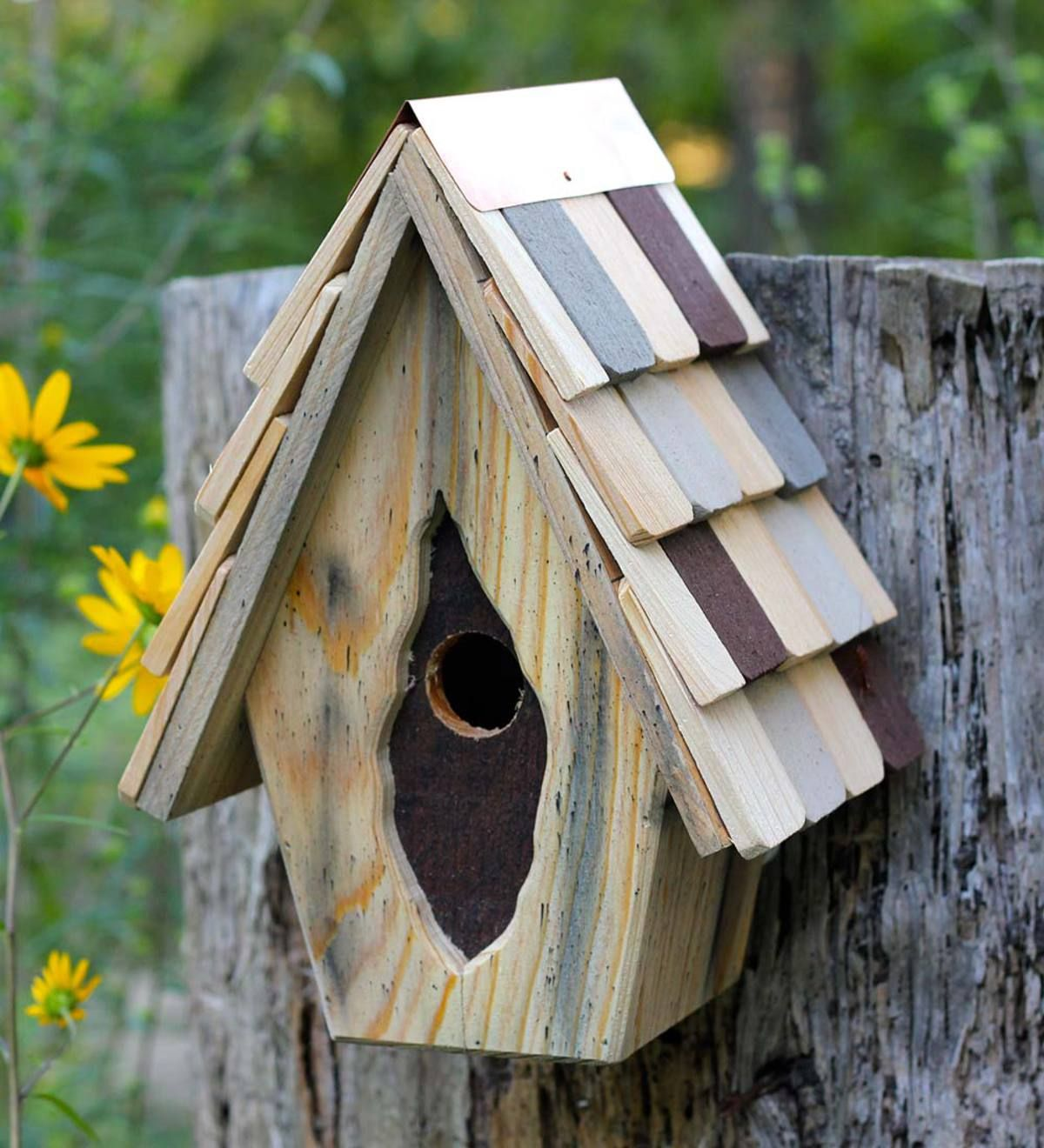 Better Than Antique The Charming Vintage Wren Birdhouse Enchants Humans And Birds Alike With A Weathered Look And Whimsical Design Stra Bird Houses Wren