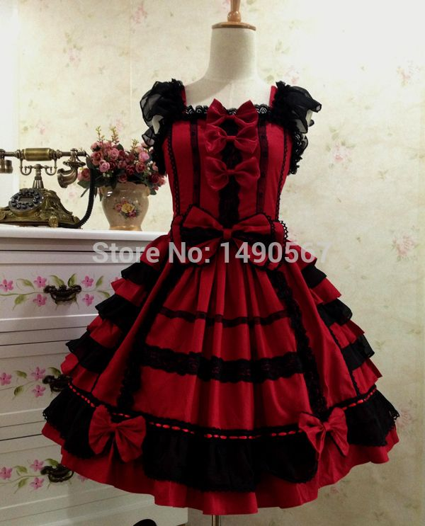 Barbie Princess Gothic Lolita Dress Court Japanese Cosplay Costume  Purple/Pink/Red/Black
