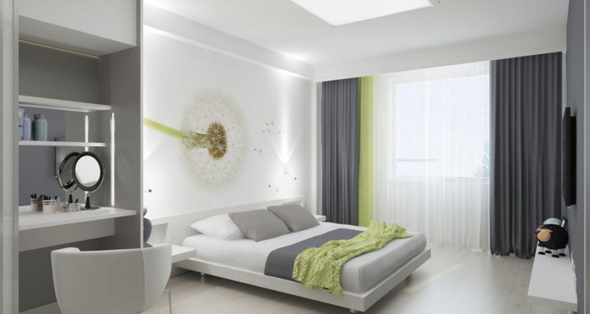 спальня в стиле минимализм фото с зеленым: 15 тыс ...