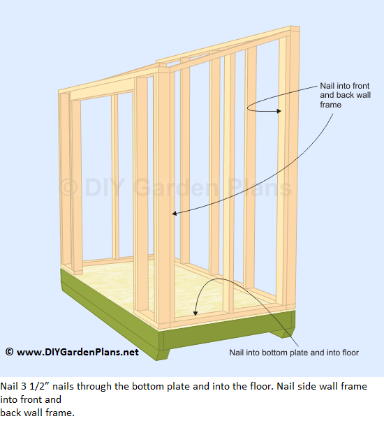 How To Frame A Shed Roof How To Build The Lean To Shed Side Wall Chicken Coop Pinterest