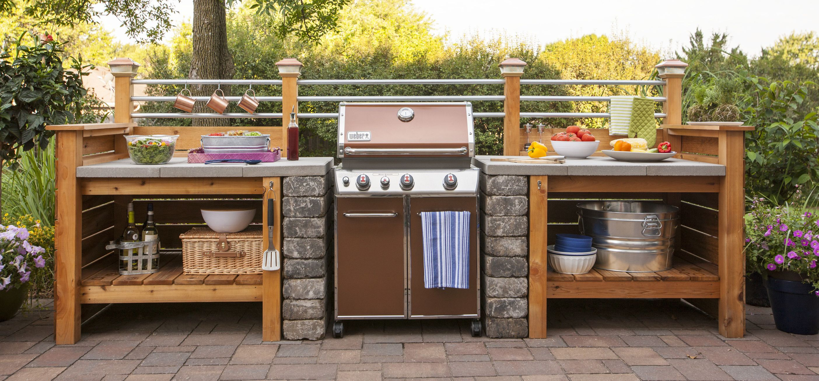 Backyard Patio Kitchen With Images Outdoor Kitchen Patio Kitchen Diy Outdoor Kitchen