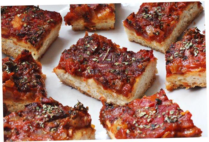 Pizza uruguaia vegana
