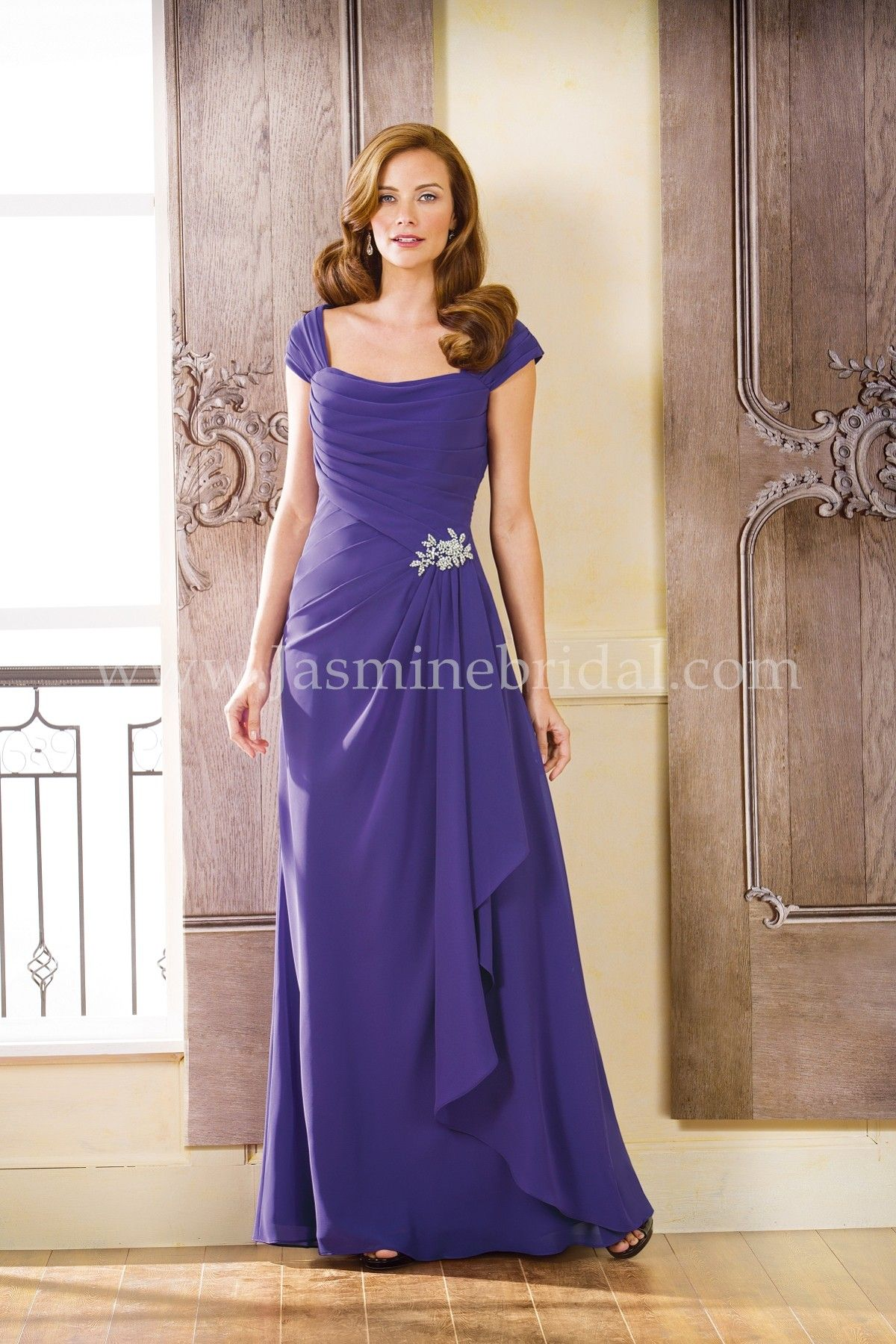 Jasmine Bridal Jade Style J175068 in Concord Grape // Chic and ...