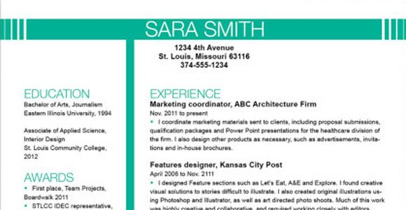 The Best Resume Examples Top Resume Templates Including Word Templates  Best Resume Layouts
