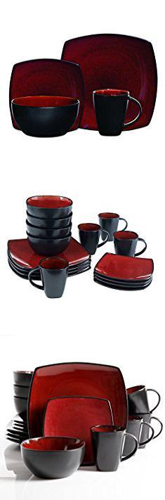 Square Plates Dinnerware. Gibson Soho Lounge 16-Piece Square Reactive Glaze Dinnerware Set  sc 1 st  Pinterest & Square Plates Dinnerware. Gibson Soho Lounge 16-Piece Square ...