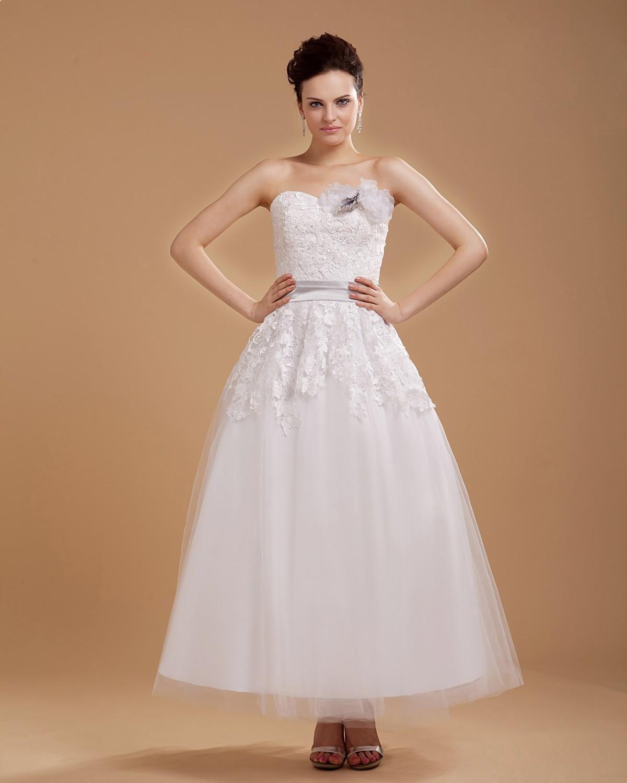 Mini white wedding dress  Flowers Applique Tulle Sweetheart Sleeveless Short Mini Wedding
