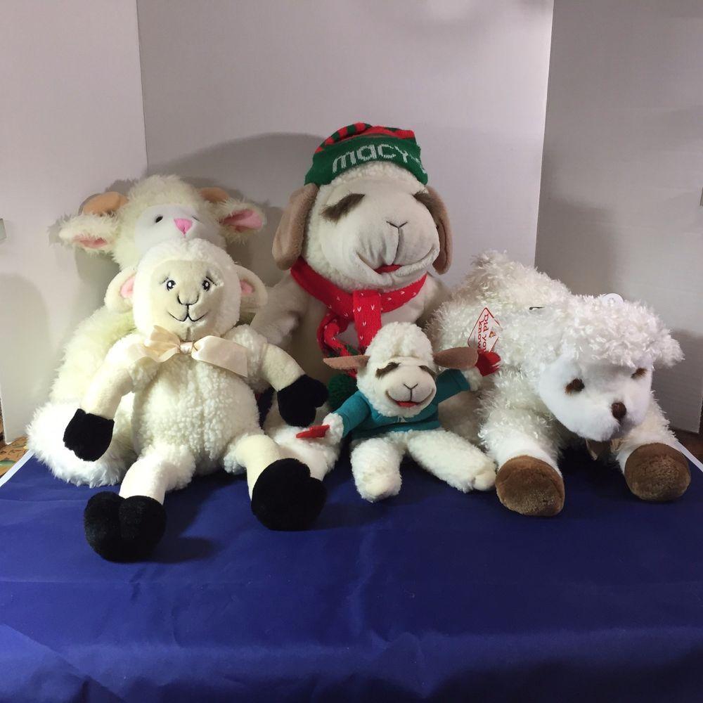 Lot Of 5 Lamb Sheep Plush Lamb Chop Puppet Macys Sprinkles Dakin