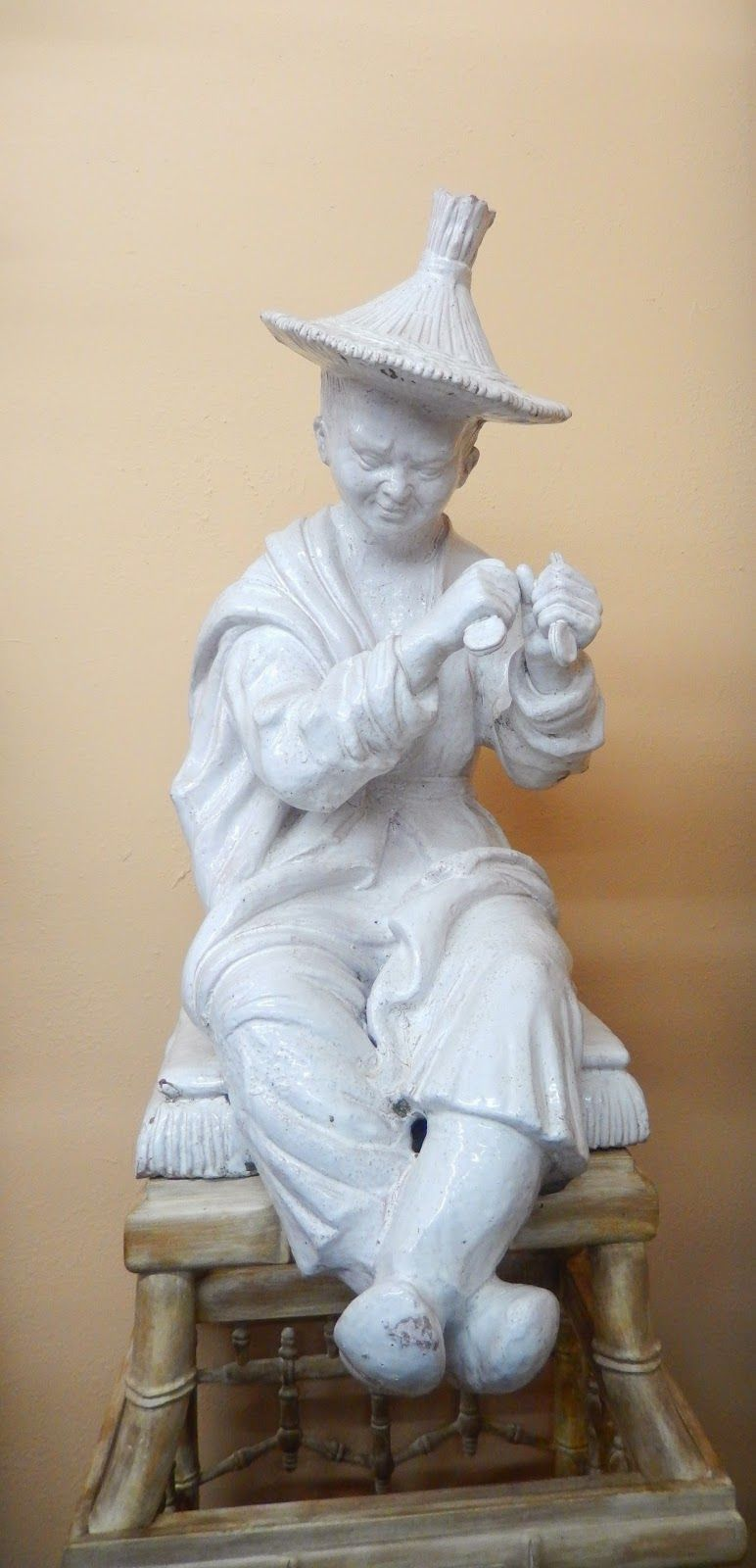 Ludwigsburg Terrakotta Italian Glazed Terracotta Chinoiserie Figure Fired Earth