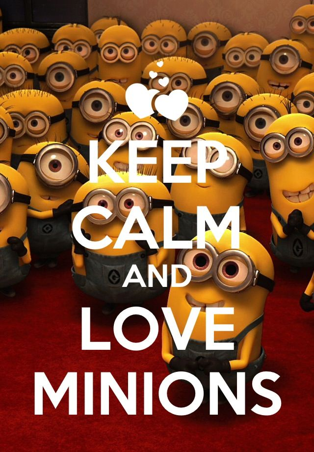 Superbe Keep Calm And Love Minions