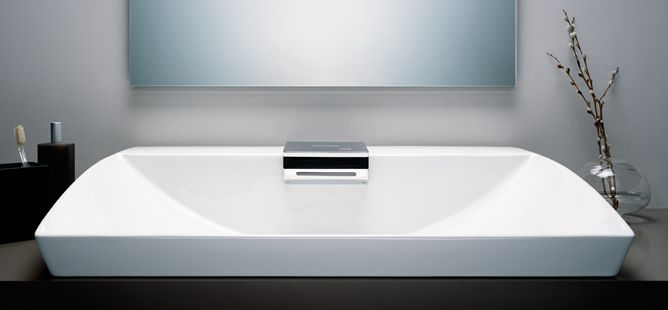 toto nearest lav with integrated sensor faucet