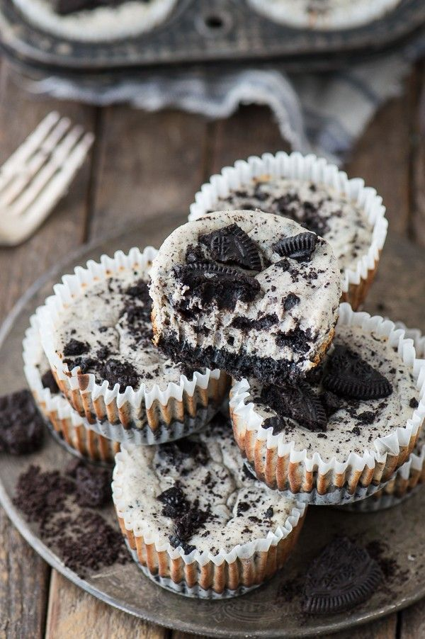 7 Ingredient Mini Oreo Cheesecake Recipe Made In A Muffin Pan Pi