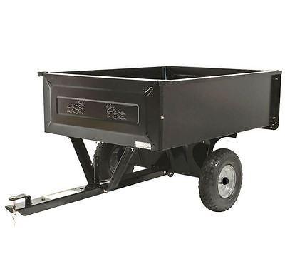 Dump Cart For Lawn Tractor Hauling Wagon Yard Utility Trailer 10 Cu Ft Steel Dump Cart Lawn Mower Tractor Wheelbarrow Garden
