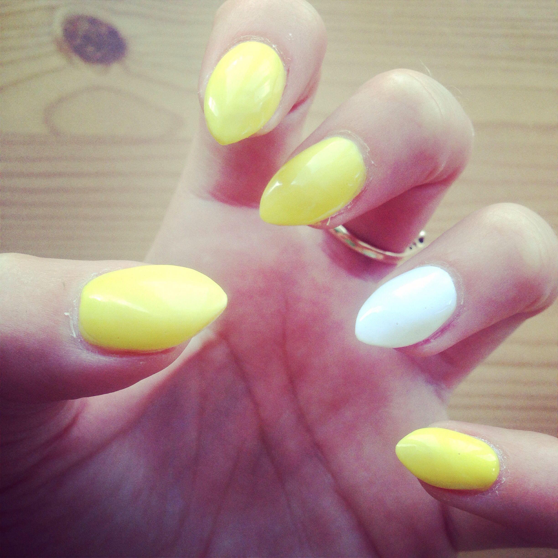 Yellow#white#pointed