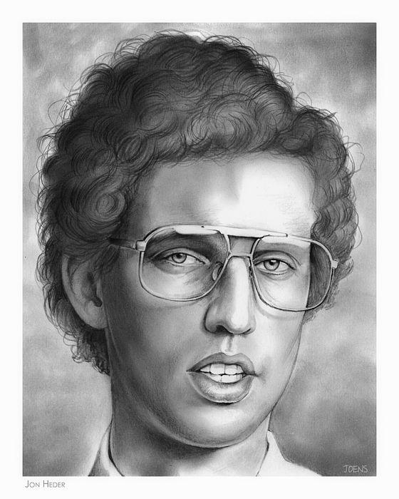 Jon Heder pencil sketch by www.gregjoens.com