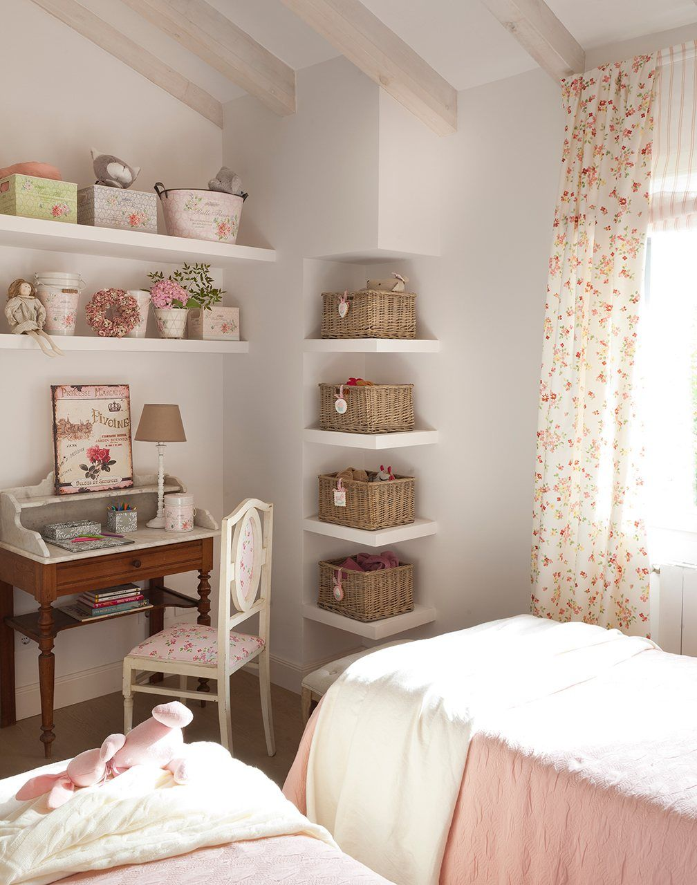 Sweet and lovely girl 39 s room a place to be child - Habitaciones con papel pintado ...