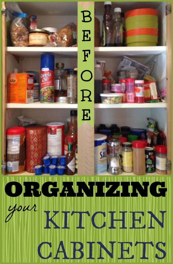 Organizing Your Kitchen Cabinets   Before And After Kitchen Spice Cupboard  || StuffedSuitcase.com Home Organization