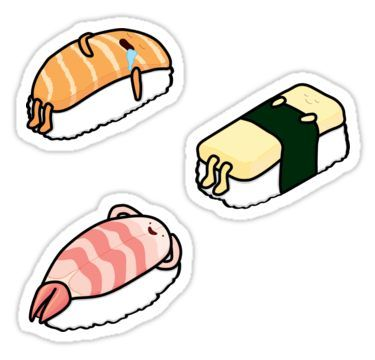 'Sushi Bed - 3 Pack' Sticker by gianinaann