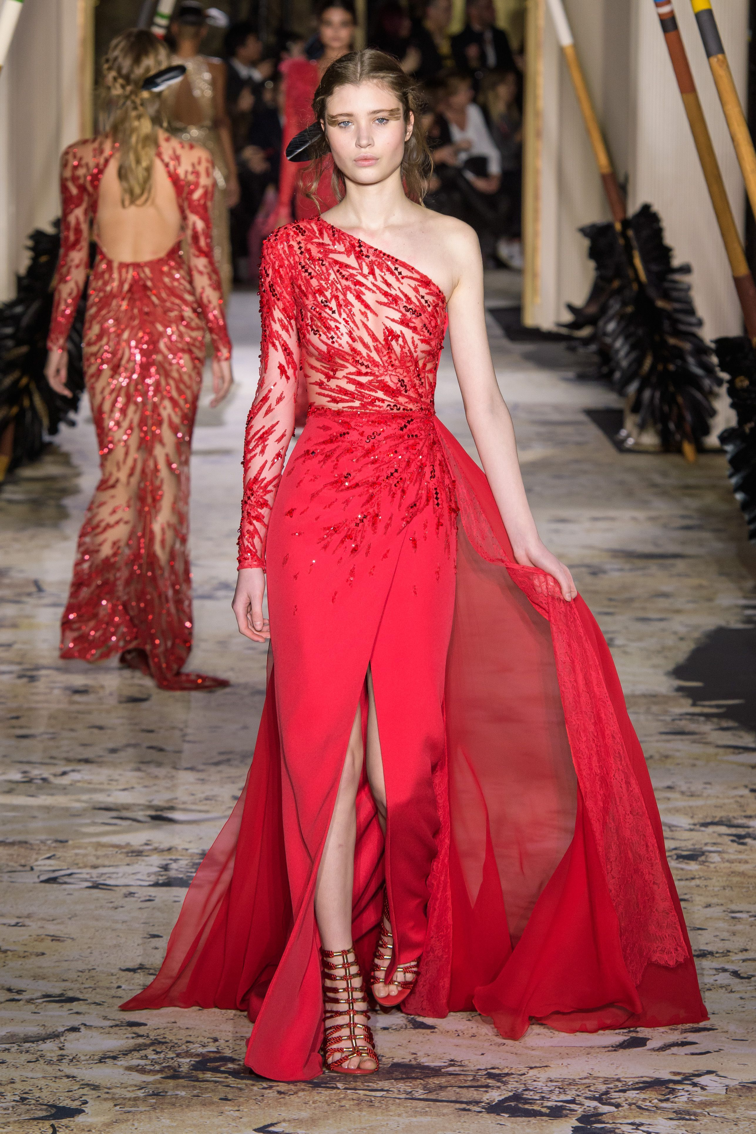 Zuhair murad spring couture fashion style mag gala dress