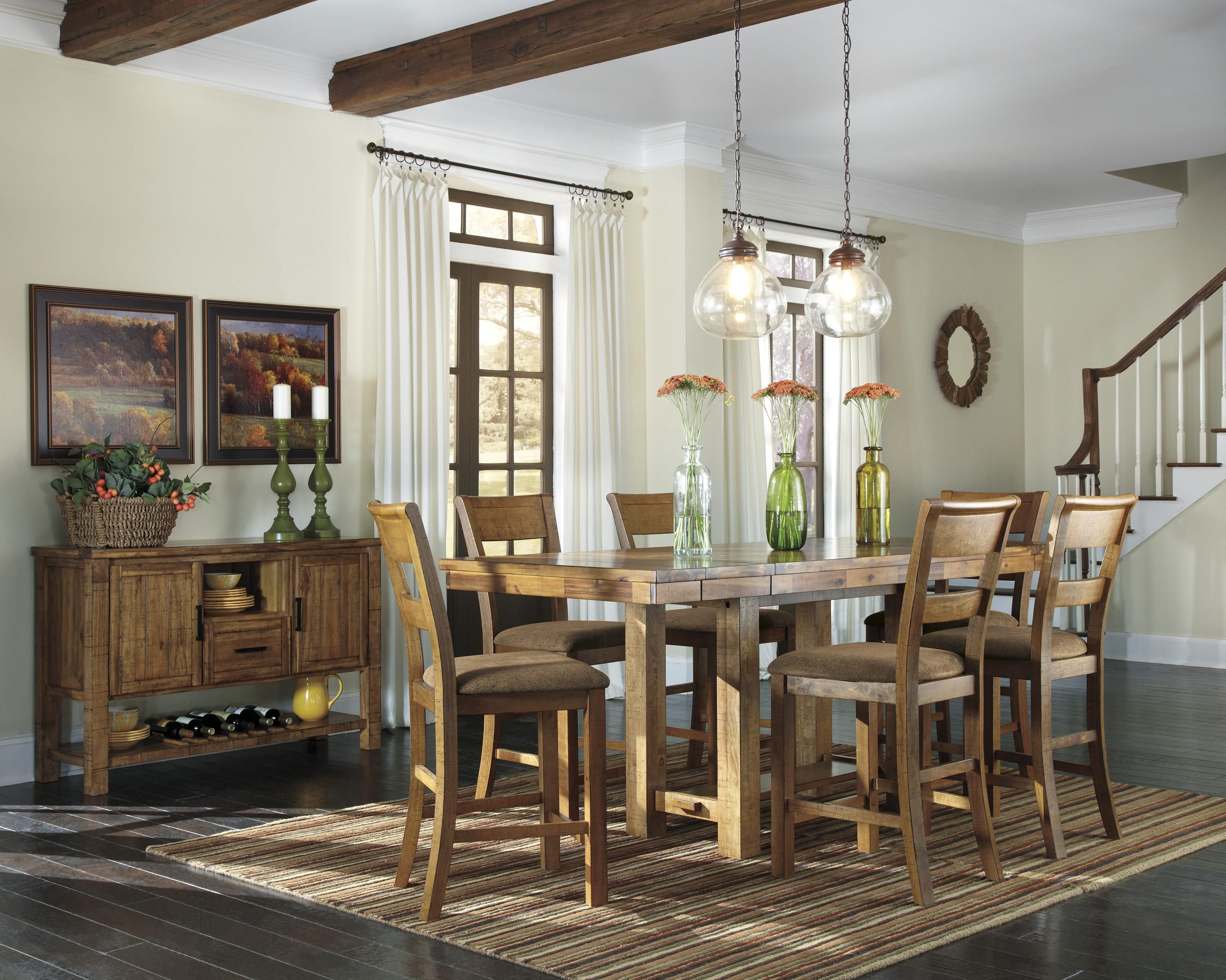 Krinden Casual Dining Room Groupashley Signature Design Cool Casual Dining Room Tables Review