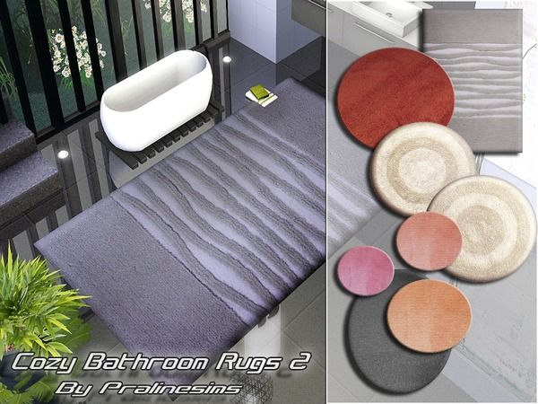 The Sims Resource Tsr Cozy Bathroom Rugs By Pralinesims Sims 3 Downloads Cc Caboodle Cozy Bathroom Bathroom Rugs Rugs