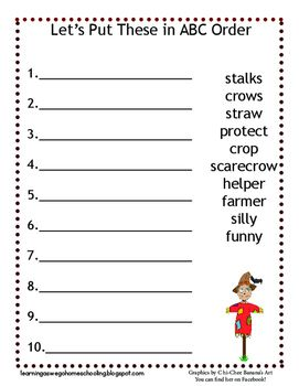 fun fall themed worksheet to practice alphabetical order more