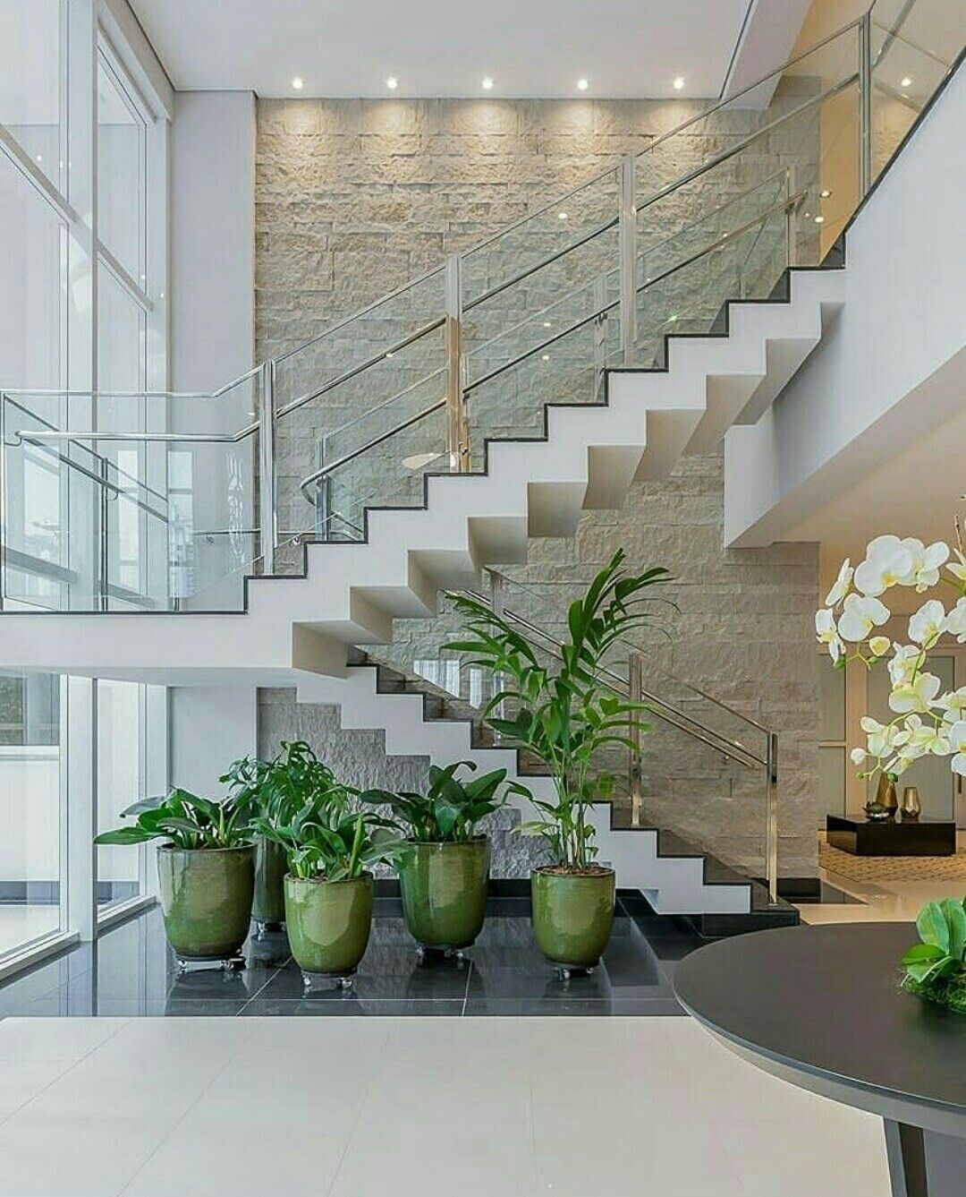 58 Cool Ideas For Decorating Stair Risers: Cool Staircase Ideas. ... Stairs With Beadboard Risers