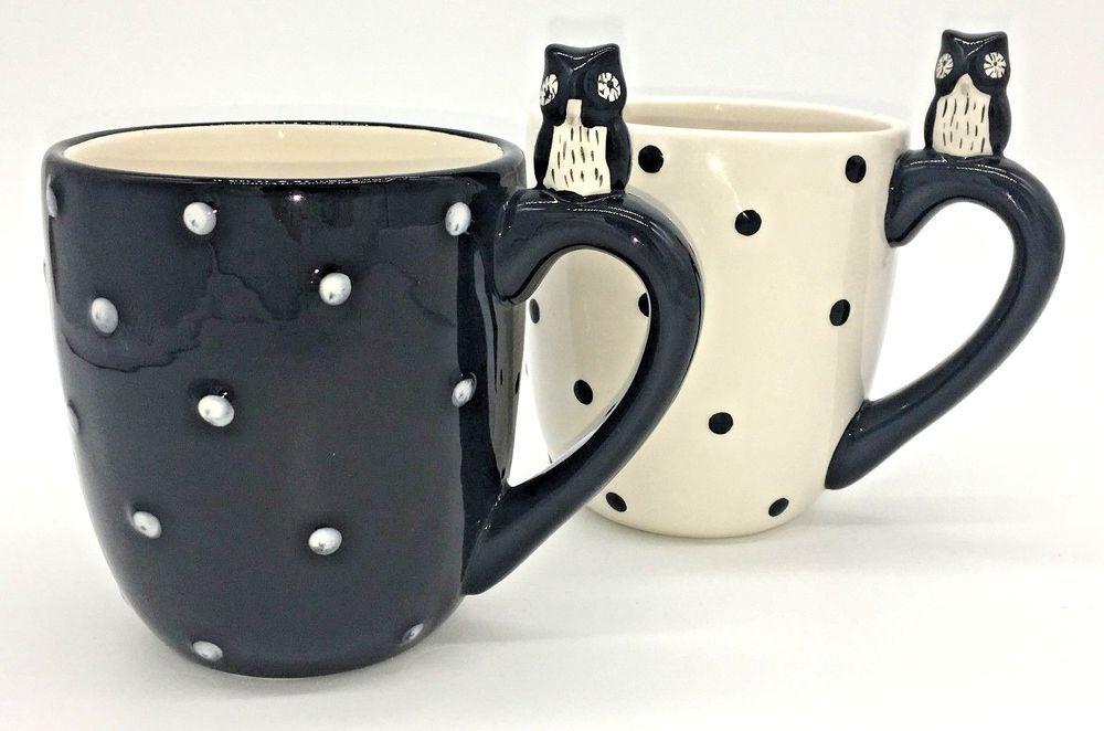 Set 2 Owl Mugs Global Design Connections Kate Williams Owl Inside