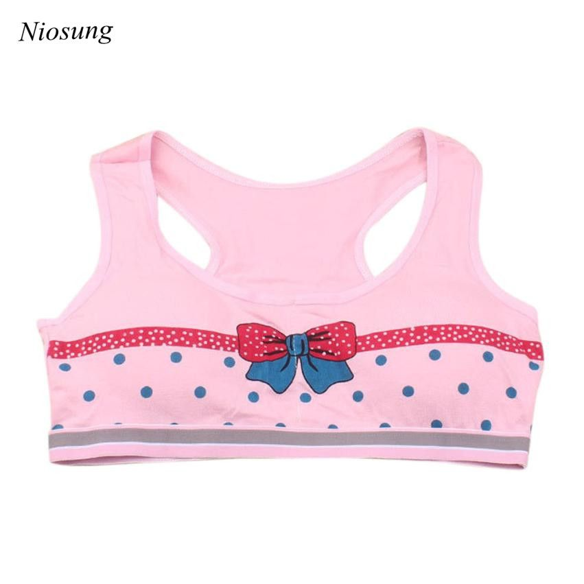 a9416a19ae49a Kids Girls Printing Cotton Underwear Training Bra Sleeping Vest Children  Underclothes Comfortable Girls Sport Undies v -