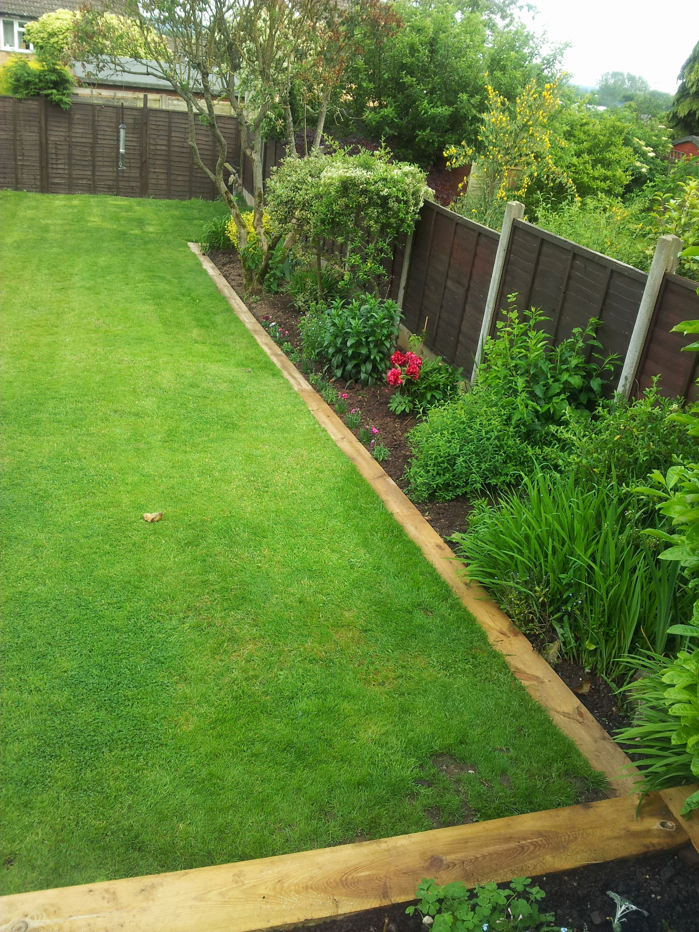 Image result for railway sleepers garden edging | Backyard ...