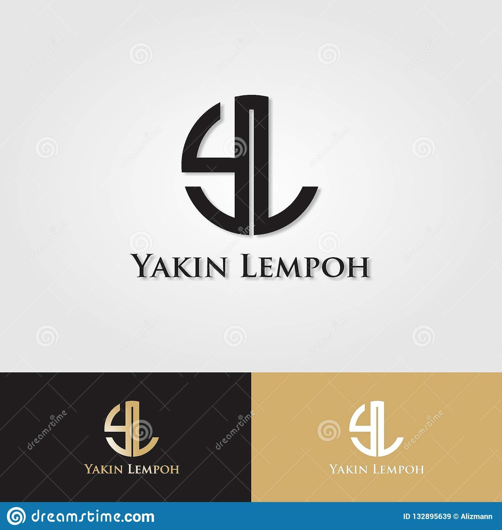 Initial Logo Design Y L Initials Logo Design Initials Logo