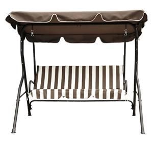 gbp   74 99 aosom 3 seater garden swing in brown  u0026 white stripes gbp   74 99 aosom 3 seater garden swing in brown  u0026 white stripes      rh   pinterest