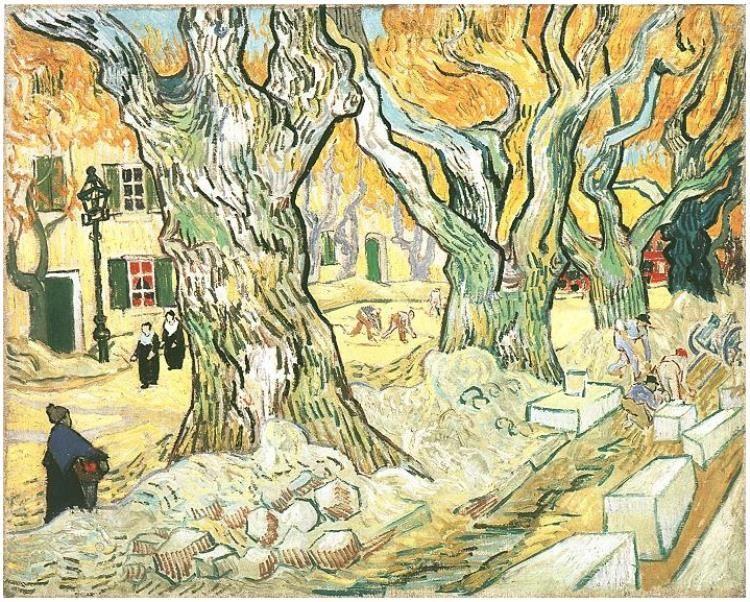 Road Menders, The by Vincent Van Gogh - 472 - Painting
