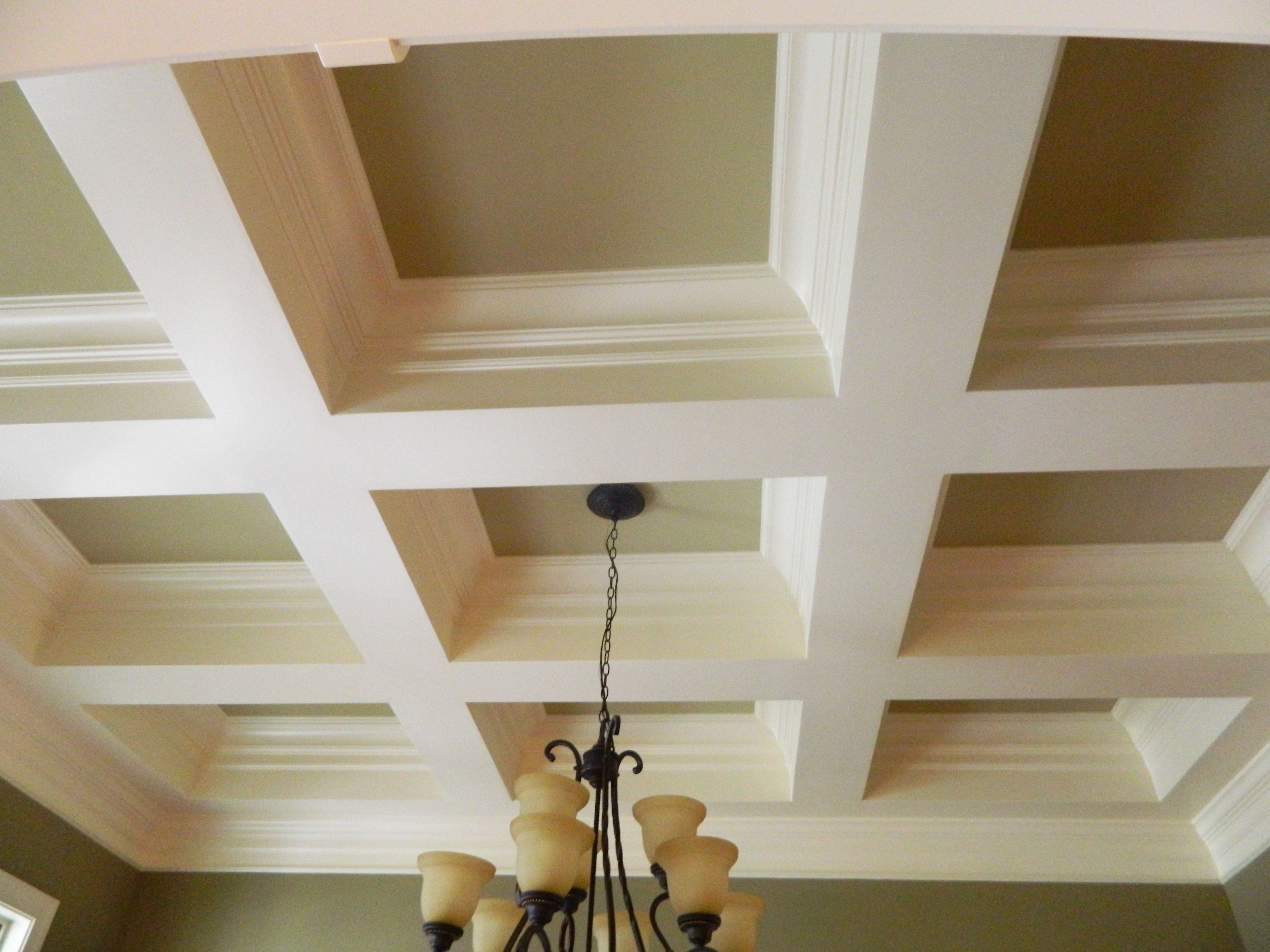 Very Deep Two Tone Square Style Coffered Ceiling Gorgeous