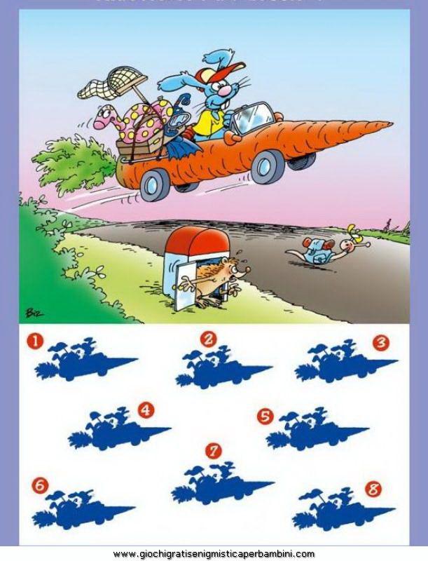 Ombra giusta 05 enigmistica per bambini e ragazzi giochi for Ombra in inglese