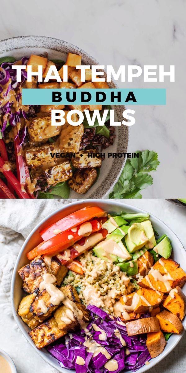 Vegan Thai Tempeh Buddha Bowl