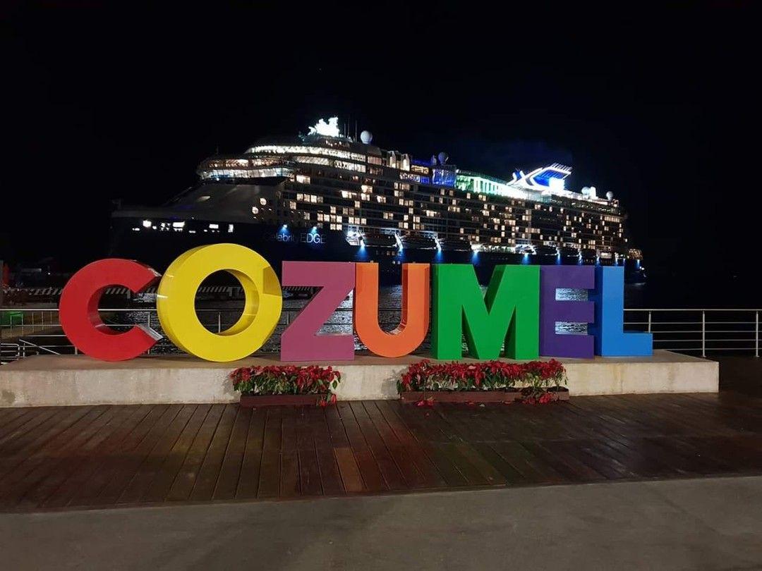 #CelebrityEdge docked in Cozumel today Celebrity Cruises