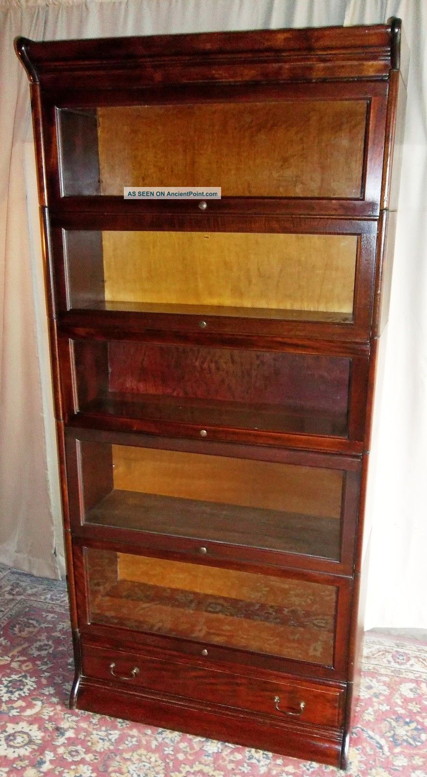 Image For Antique Bookcases With Glass Doors Wooden