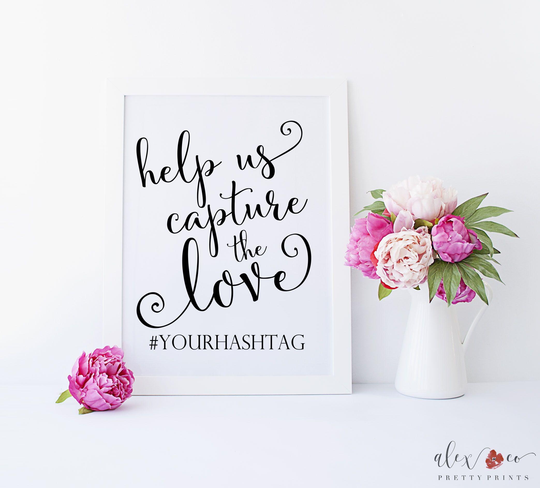 Wedding Printable. Wedding Decor. Wedding hashtag sign