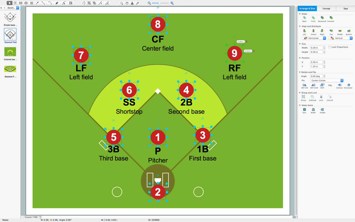 The Baseball Solution Extends Conceptdraw Diagram 5 Or Later Software With Samples Templates And Librarie In 2020 Baseball Baseball Field Dimensions Baseball Terms