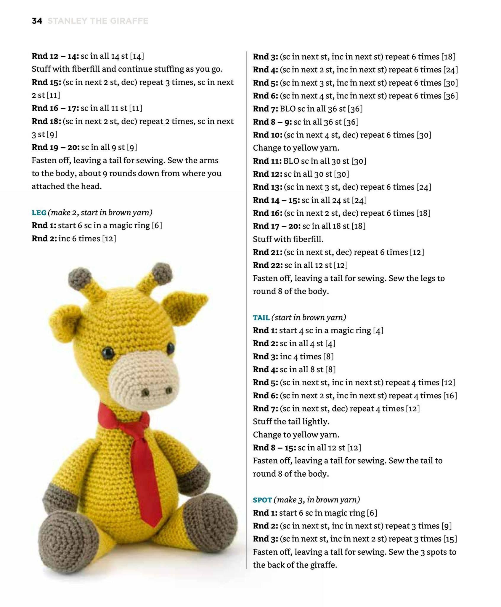 Giraffe Crochet Amigurumi Pattern. how to crochet a giraffe ... | 2048x1692