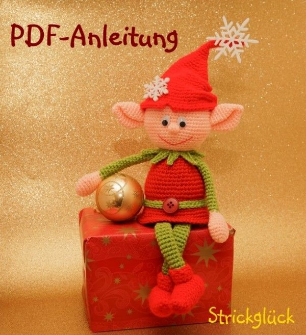 h kelanleitung weihnachtself zwerg amigurumi 18 seiten pdf h keln pinterest. Black Bedroom Furniture Sets. Home Design Ideas