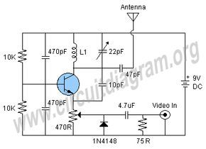 tv transmitter circuit circuit diagram electronic electronictv transmitter circuit circuit diagram