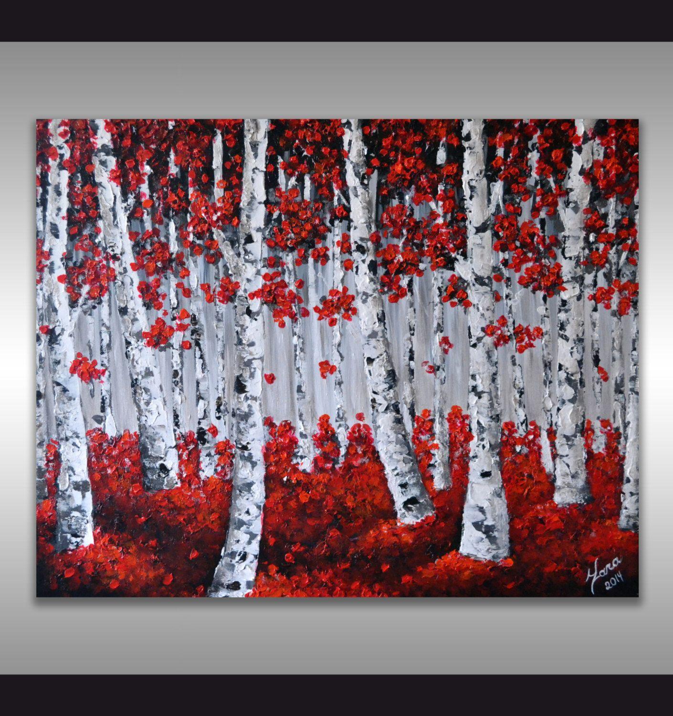 Birch Tree Abstract Wall Art