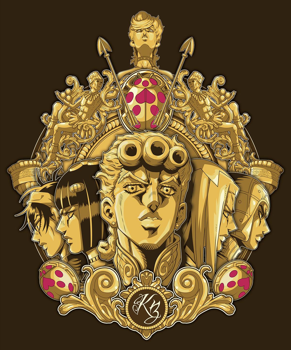 Vento Aureo Jojo S Design On Behance Jojo Bizarre Jojo Bizzare Adventure Jojo Anime